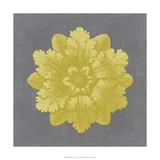 Gilded Rosette V Giclee Print by  Vision Studio
