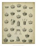 Heraldic Crowns & Coronets II Poster by  Milton