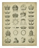 Heraldic Crowns &amp; Coronets III Prints by Milton 