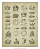 Heraldic Crowns & Coronets III Giclee Print by  Milton