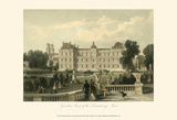 Garden- front of Luxembourg, Paris Prints by T. Allom