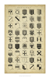 Vintage Heraldry I Giclee Print by  Chambers