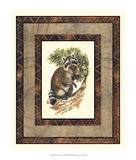 Rustic Raccoon Giclee Print by  Vision Studio
