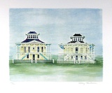 Twin Houses Mississippi Limited Edition by Mary Faulconer