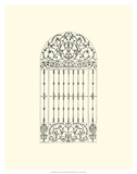 B&W Wrought Iron Gate III Giclee Print