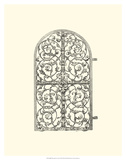 B&W Wrought Iron Gate VII Giclee Print