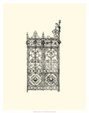 B&amp;W Wrought Iron Gate V Posters