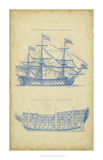Vintage Ship Blueprint Giclee Print by  Chambers