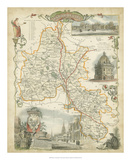 Map of Oxfordshire Giclee Print