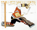 Blackhawk Goalie Collectable Print by Henry Gorski