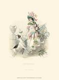 Le Fleur Animé IV Print by J.J. Grandville