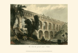 The Pont du Gard, near Nismes Affiches par T. Allom