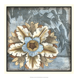 Rosette with Leaves II Prints by Jennifer Goldberger
