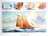 Five US Schooners 1851-1876 Collectable Print by John Gable