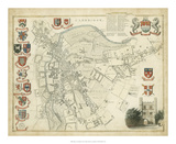 Map of Cambridge Giclee Print