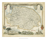 Map of Norfolk Giclee Print