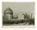 Baptistry, Cathedral &Leaning Tower Posters by William Henry Bartlett
