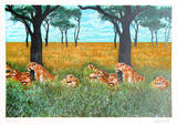 Lion Diptych Limited Edition by Fran Bull