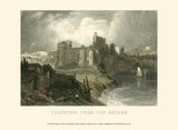 Chepstow from the Bridge Prints by T. Allom