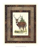 Rustic Deer Giclee Print by  Vision Studio