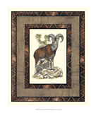 Rustic Big Horn Giclee Print by  Vision Studio