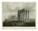 Temple of Jupiter- Olympus, Athens Print by  Wolfensberger