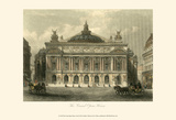 The Grand Opera House, Paris Poster by T. Allom