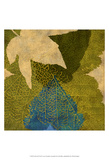 Teal Leaf I Print by Louise Montillo