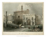 The Forum- Rome, Italy Giclee Print by William Henry Bartlett