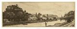 Salzburg Riverbank Giclee Print