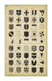 Vintage Heraldry II Giclee Print by  Chambers