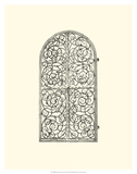 B&W Wrought Iron Gate VI Giclee Print