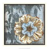 Rosette with Leaves I Poster by Jennifer Goldberger
