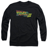 Long Sleeve: Back to the Future -  BTTF 3 Logo T-shirts