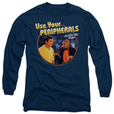 Long Sleeve: 40 Year Old Virgin - Use your Peripherals T-shirts