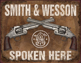 S&amp;W Spoken Here Tin Sign