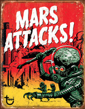 Mars Attacks Tin Sign