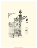 B&W Wrought Iron Gate IV Giclee Print