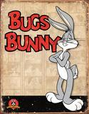 Bugs Bunny Retro Panels Plaque en métal