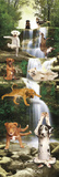 Yoga Dogs-Waterfall Poster