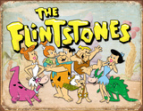 Flintstones Family Retro Cartel de chapa