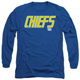 Long Sleeve: Slap Shot - Chiefs Logo T-Shirt