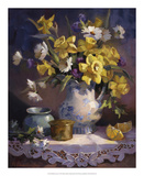 Daffodils and Lace Giclee Print by Maxine Johnston