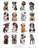 Kimberlin-Puppies Headphones Posters