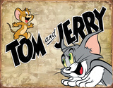 Tom & Jerry Retro Panels Tin Sign