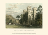 Ainwick Abbey, Northumberland Print by T. Allom