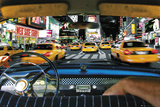 New York-Times Square-Taxi Ride Prints