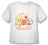 Youth: Baby Tweety - Monkey Business T-shirts