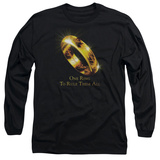 Long Sleeve: Lord of the Rings - One Ring T-Shirt