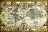 World Map-Historical Poster